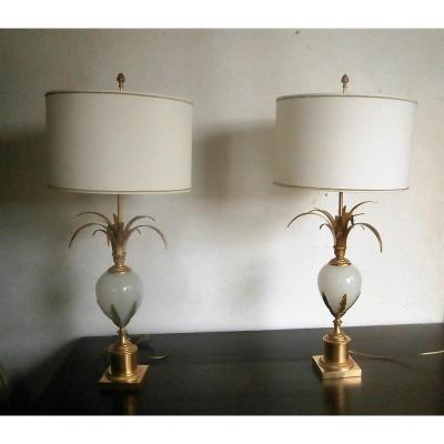 Pair Of Charles House Lamps.