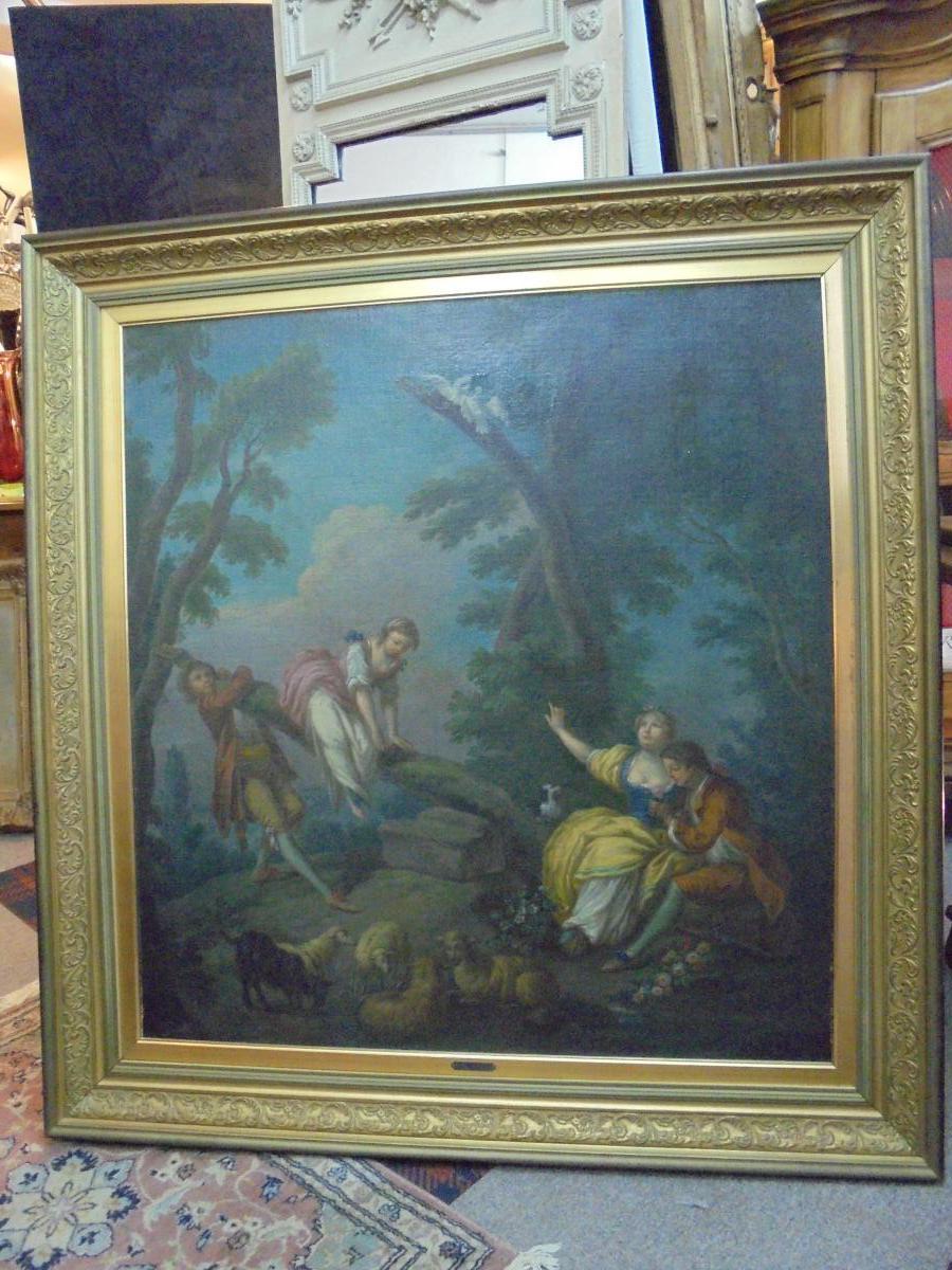 Peinture école française d'époque XVIIIème siècle