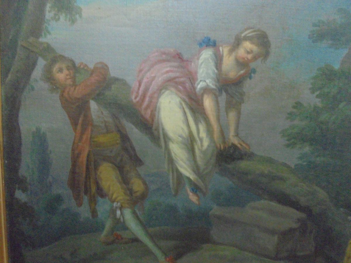 Peinture école française d'époque XVIIIème siècle-photo-2