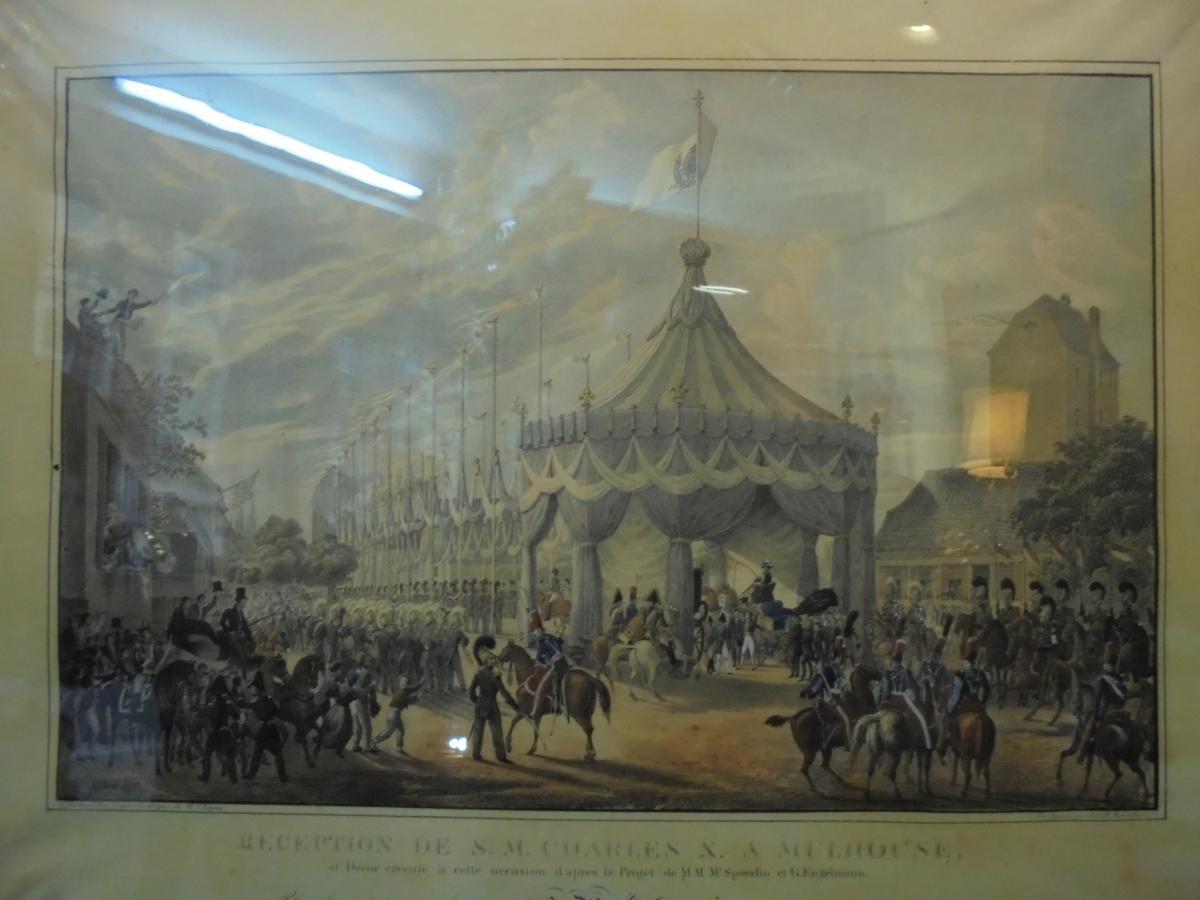 Gravure Mulhouse reception Charles X 1828-photo-2