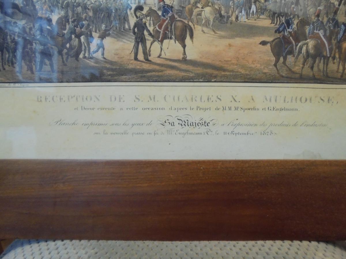 Gravure Mulhouse reception Charles X 1828-photo-3
