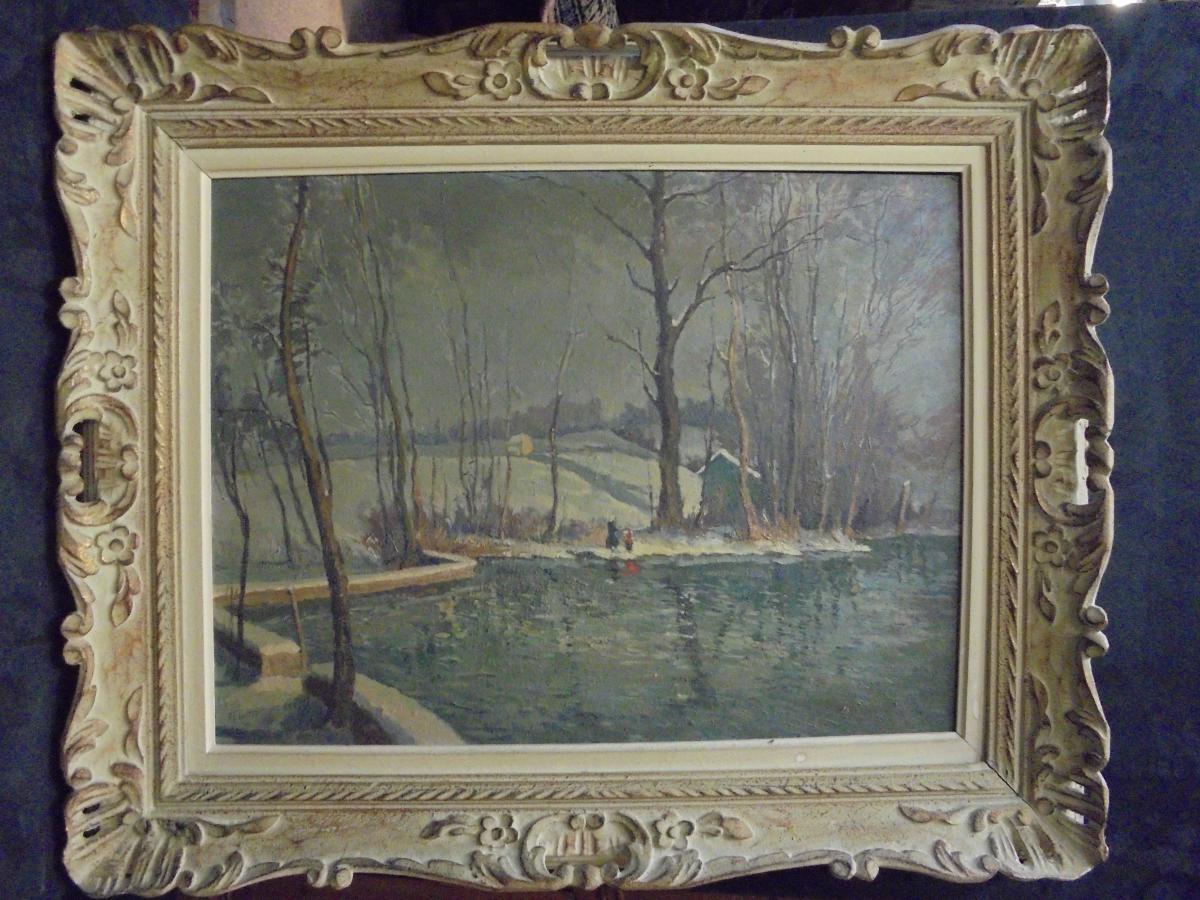 Table Oil On Panel Signed René Vetter