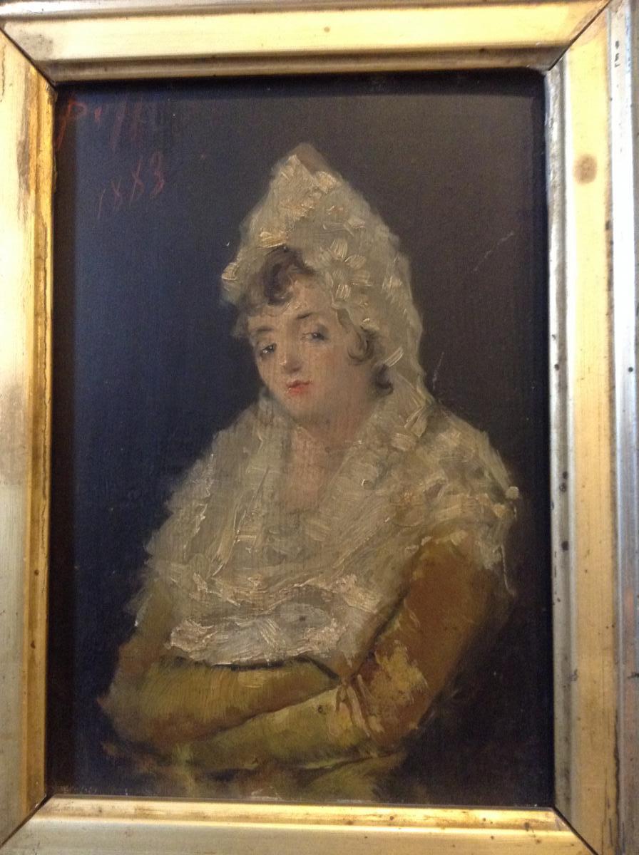 Peinture à l'Huile Sur Panneau Espagne XIXème