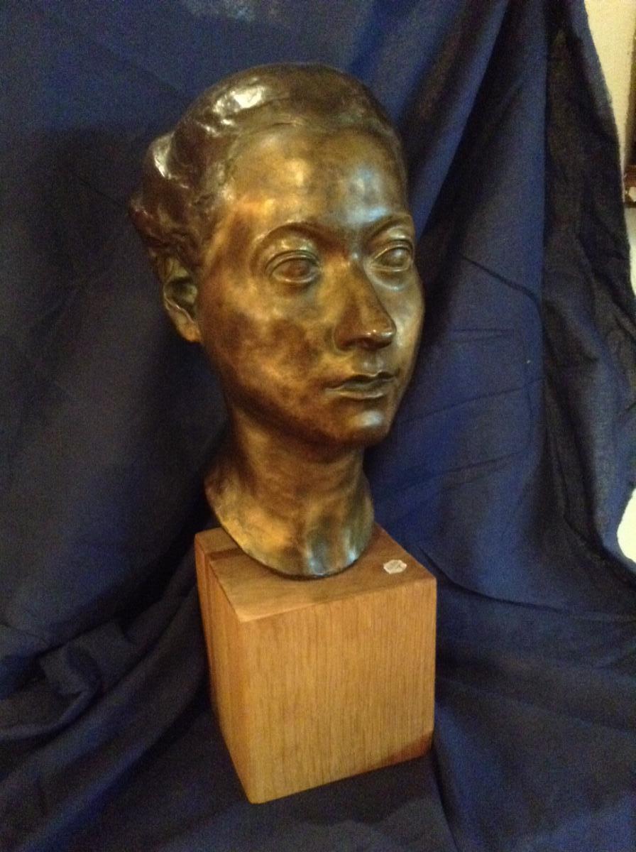 Female From Head Bronze, 1940 By René Hetzer