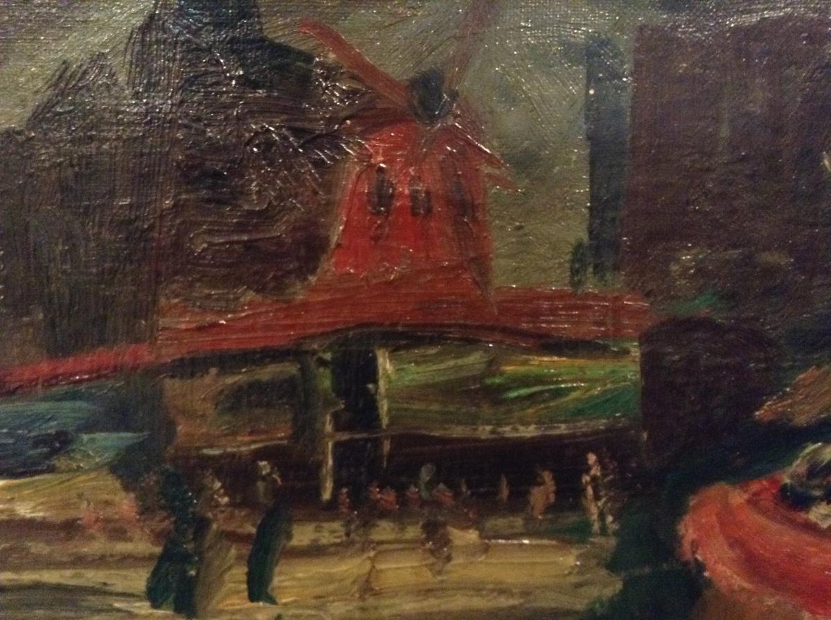 Poupée dans une boutique devant un tableau du Moulin Rouge-photo-2