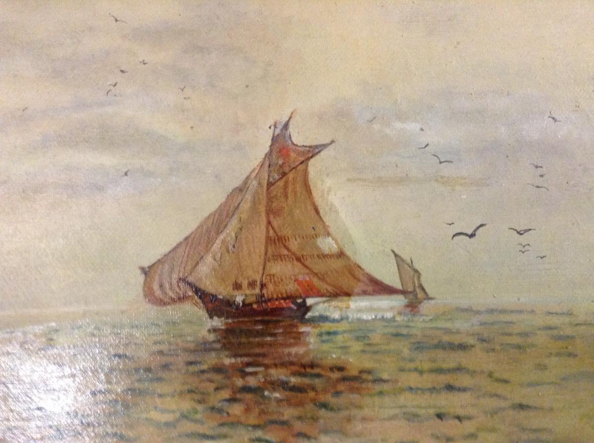 Petite Marine Datée 1905-photo-2