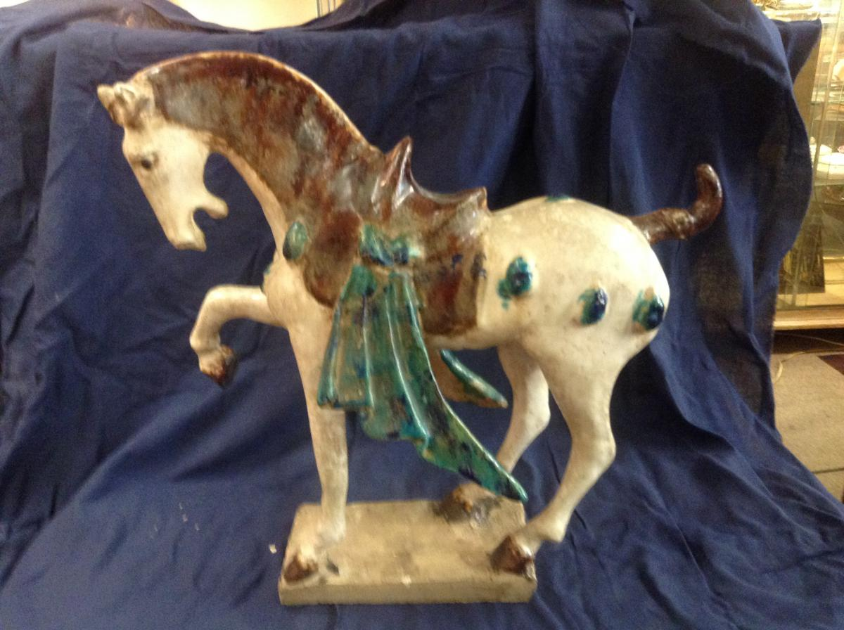 Horse Ceramic Polychrome, China, Nineteenth