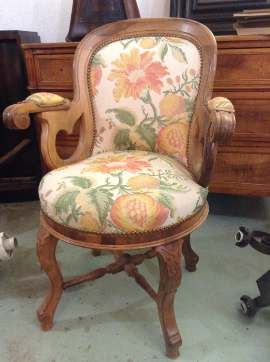 Fauteuil de bureau louis philippe chaises tabourets - Fauteuil de bureau louis philippe ...
