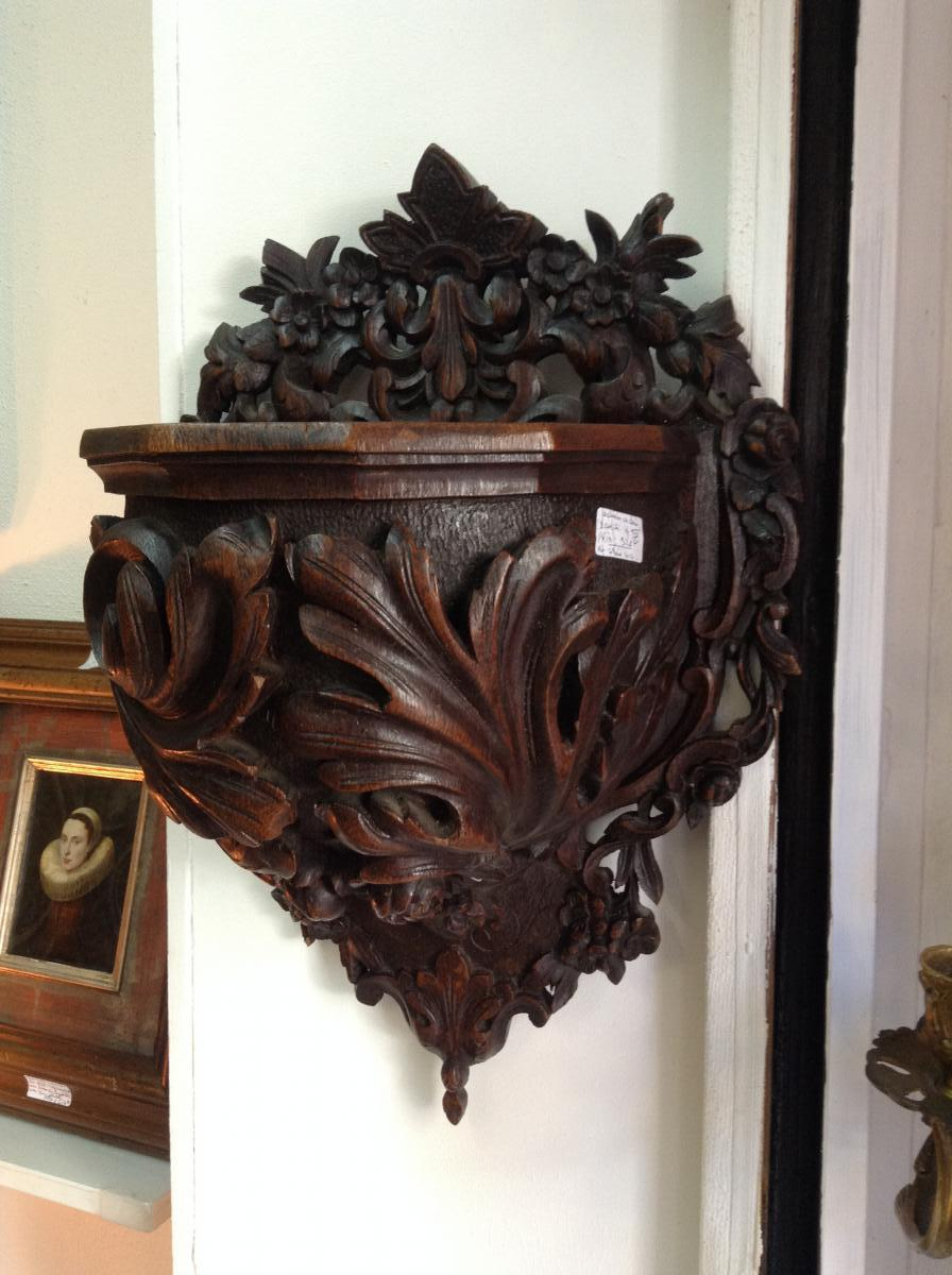 Planter Oak Carved From Labour Nineteenth