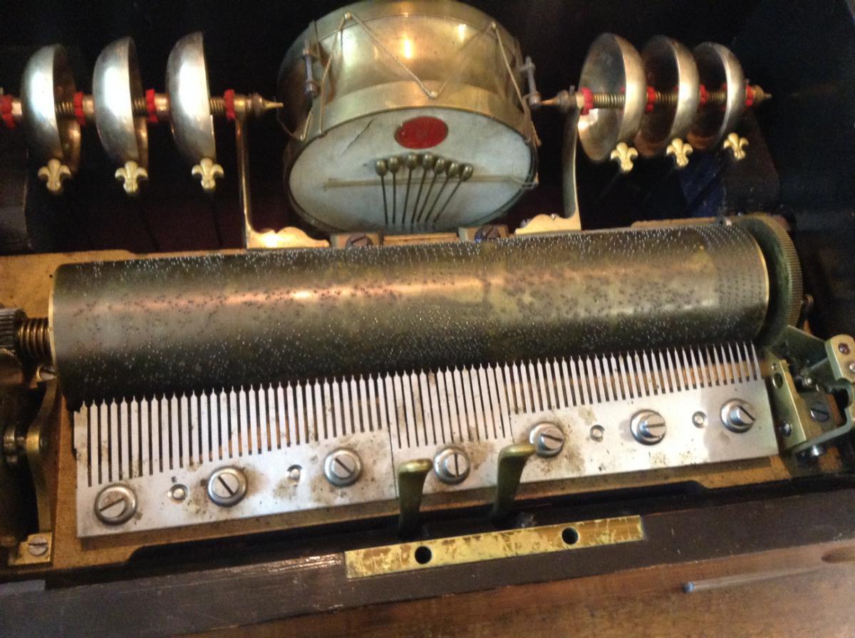 Rare Boite à Musique suisse B. A. Brémond Genève XIXe-photo-3