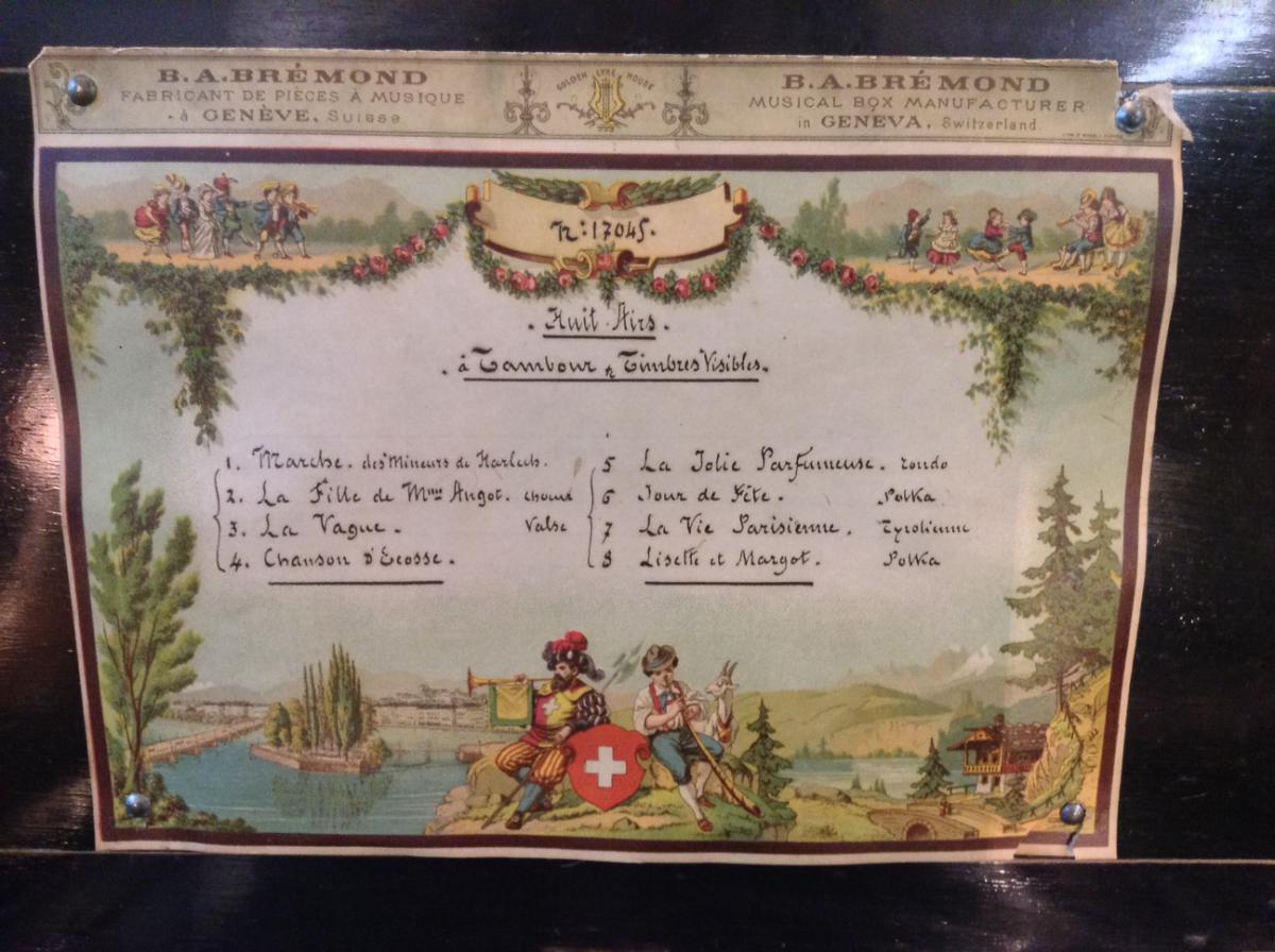 Rare Boite à Musique suisse B. A. Brémond Genève XIXe-photo-4