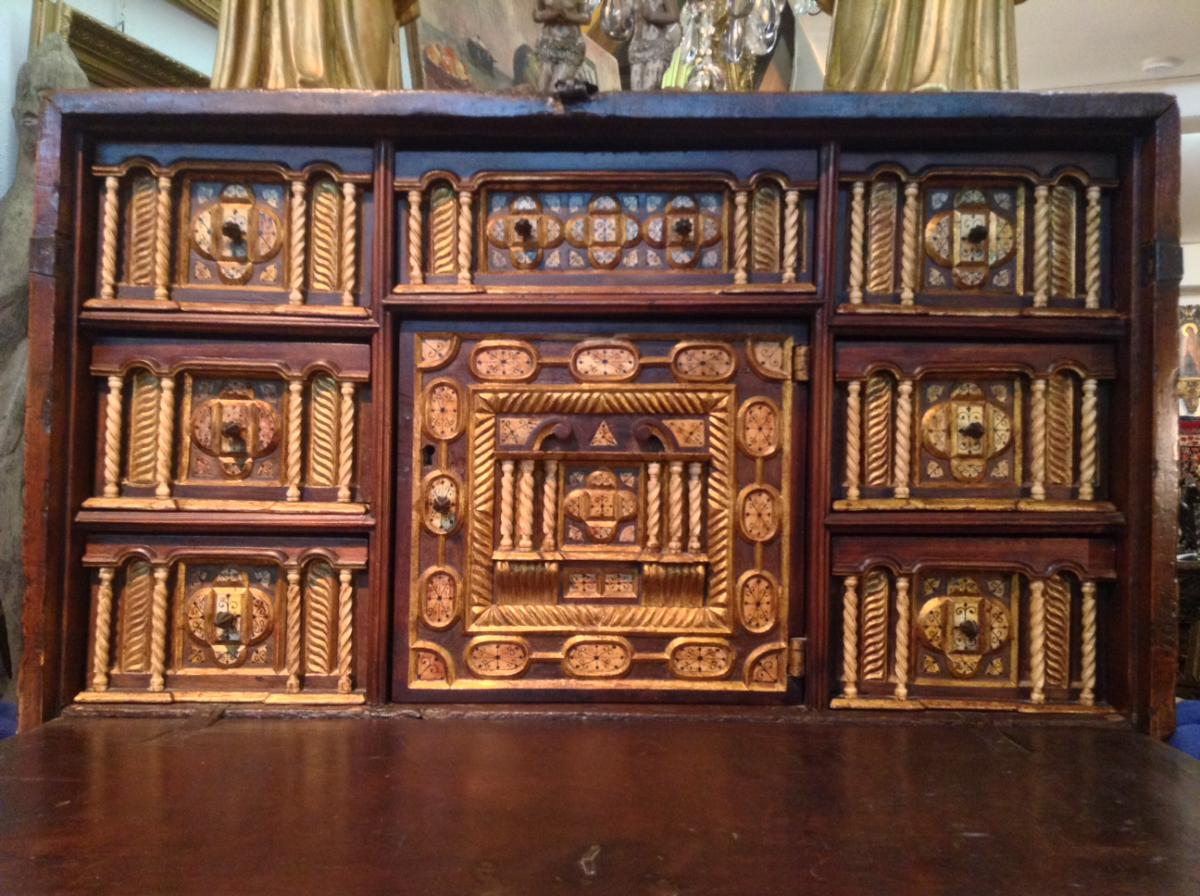 Cabinet Bargueno Walnut First Time From The Eighteenth Century