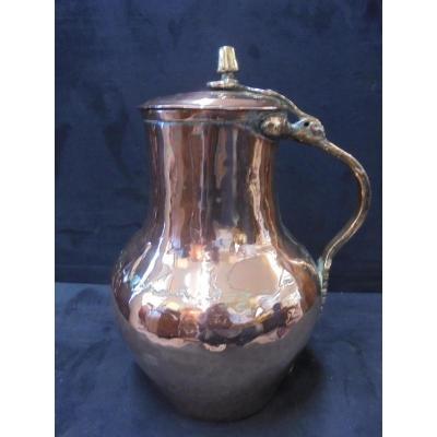 Pot à Lait Cuivre Capitonné époque XVIIIème Siècle