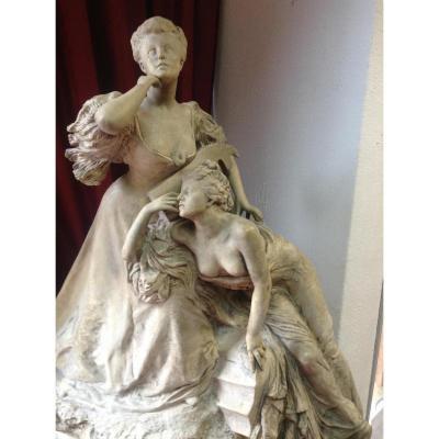 Sculpture Figurant La Comtesse Greffulhe, Belle époque