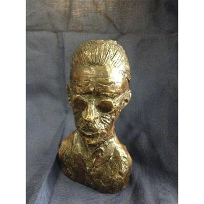 Bronze Du Poète Irlandais James Joyce