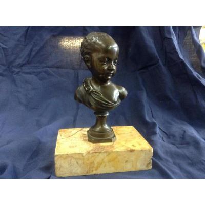 Buste Du Roi De Rome En Bronze, Soclé Sur Marbre d'Alep , Mi XIXème