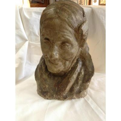 Plaster Of Old Woman, By Emile Derré