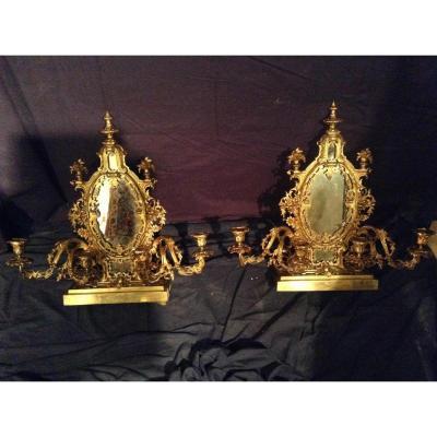 Paire d'Appliques à Poser, Italie, époque Napoléon III