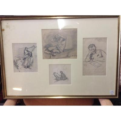 Drawings Framed Signed R. G / S?