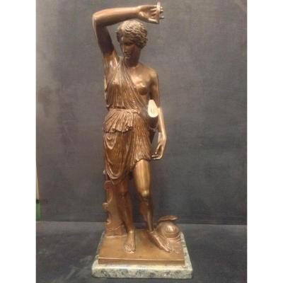 Sculpture Amazone Antique En Bronze F. Barbedienne XIXe