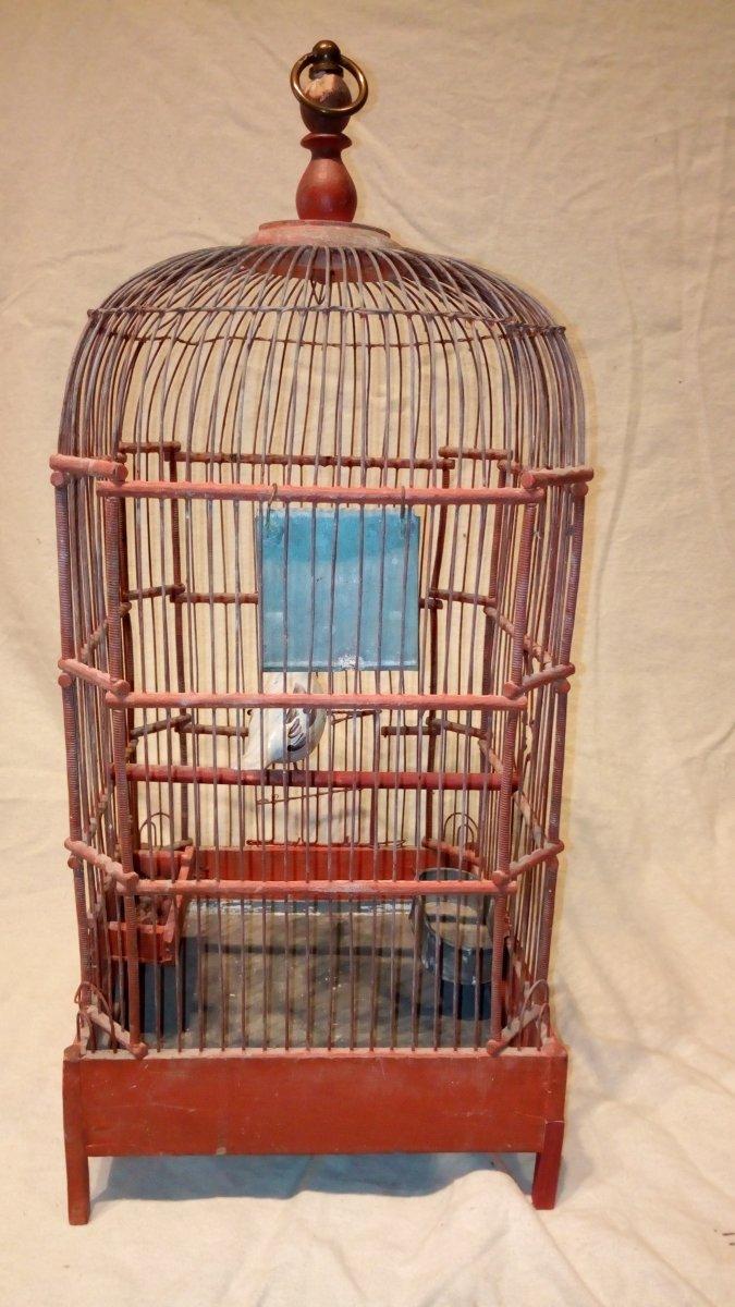 Cage à oiseaux fin 18è.-photo-1