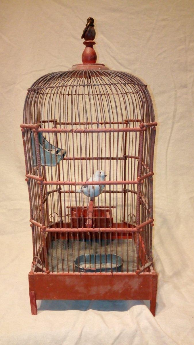 Cage à oiseaux fin 18è.-photo-2