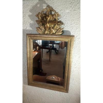 Small Wedding Mirror, Provence 18th Century.