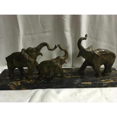 Elephants Par Decoux