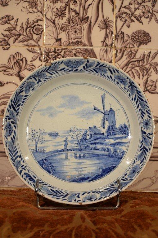 Plate From Delft. Eighteenth Century.