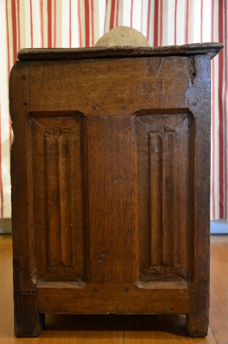 Gothic Chest, Oak, Early Sixteenth Century.