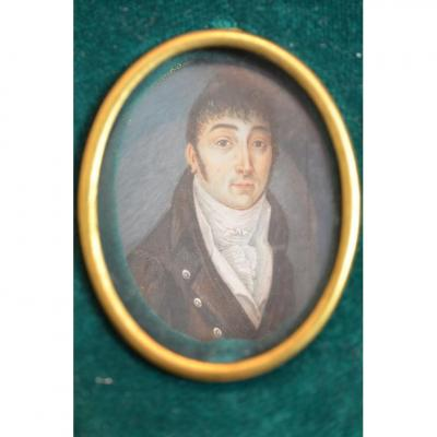 Portrait Iniature Late 18th, Early 19th Century.