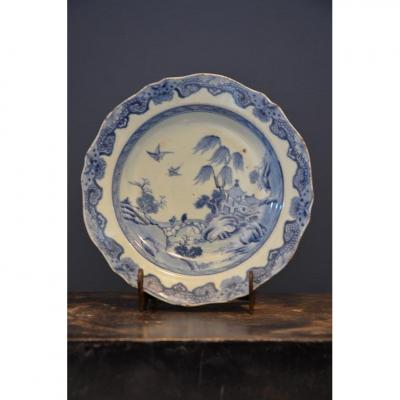 Chinese Porcelain Plate.dix-eighth Century.