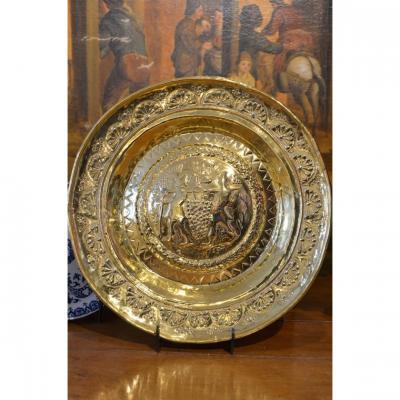 Dish Of Offerings. Malines. Seventeenth Century.