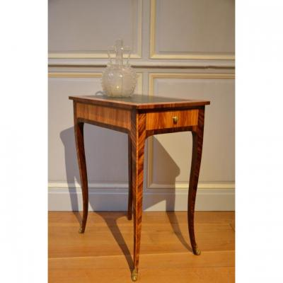 Small Table In Marquetry, Louis XV Period.