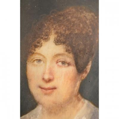 Portrait miniature. Fin dix-huitième-début du dix-neuvième siècle.