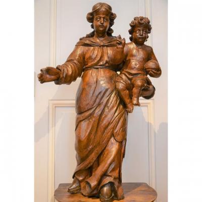 Vierge à l'Enfant. Dix -septième siècle.
