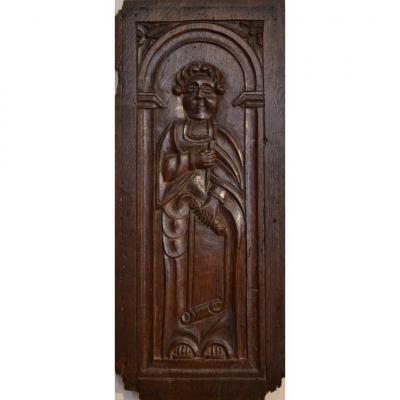 Panneau de chêne sculpté. Epoque Renaissance.