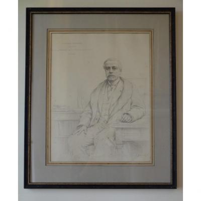 Jules (alphonse) Deturck. Portrait Of A Notable.
