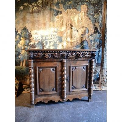 Oak Sideboard. Seventeenth Century.