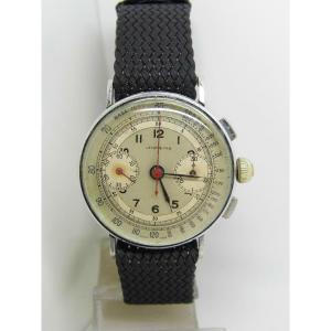 "Montre Chronographe ""LEROY & FILS""mouvement base Landeron 47 vers 1940"