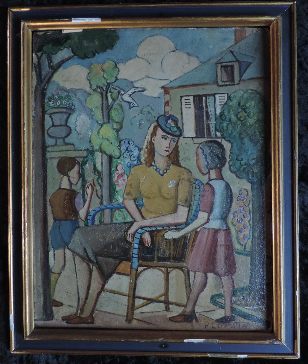 Henri Levavasseur (1881-1962), Oil On Cardboard, 1933.