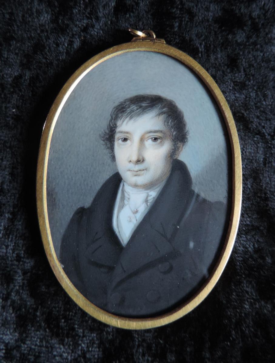 Miniature Sur Ivoire-joseph Weidner(1801-1871).