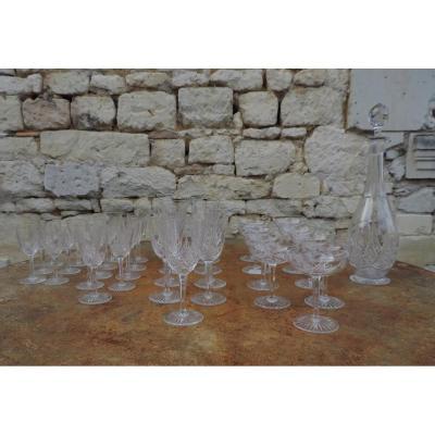 Baccarat Service De Verres/carafe En Cristal Modèle Épron