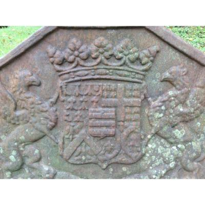 Coat Of Arms Of Brittany. Fireplace Plate XVIII.