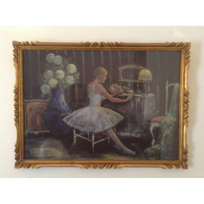 J. Chatelin- Painting On Fabrics Mounted On Cardboard.