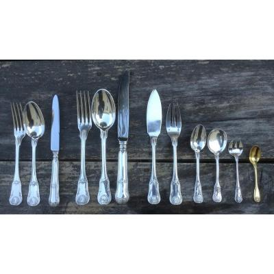 Sterling Silver Cutlery Puiforcat 162 Pieces.