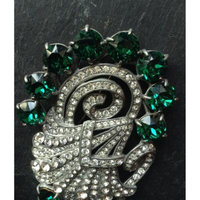 Magnifique Eisenberg Dress Clip/ Broche Eisenberg Strass