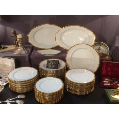 Service de table en Porcelaine De Limoges Empire 52 Pcs