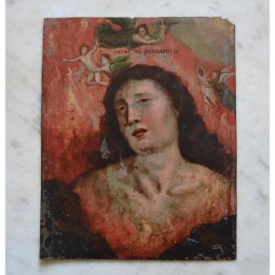 Peinture Huile Sur Cuivre Estampille Marie-madeleine 16e Siècle Italie