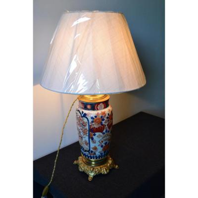 Lampe En Porcelaine Imari Japon époque Napoléon III